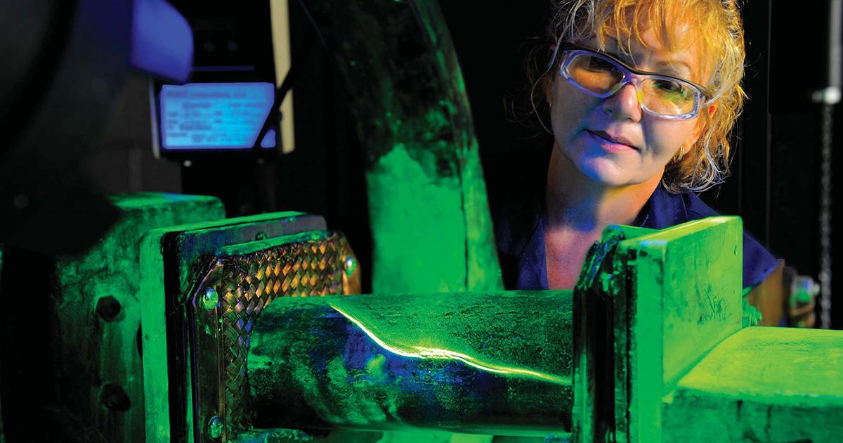 Timken woman working Collaborative Research & Development
